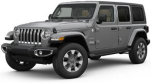 Grey Jeep Wrangler Unlimited Rental