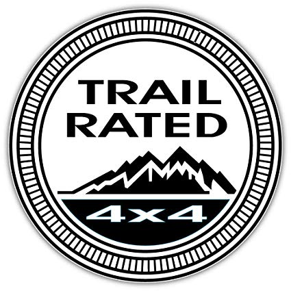 Trail rated 4x4 Jeep badge