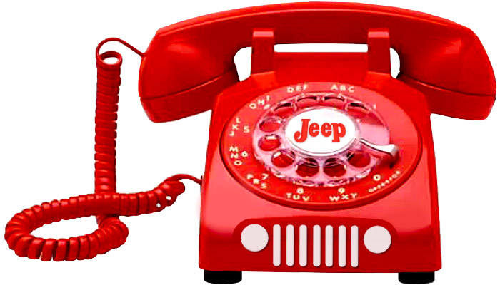 Contact us on the red Jeep phone