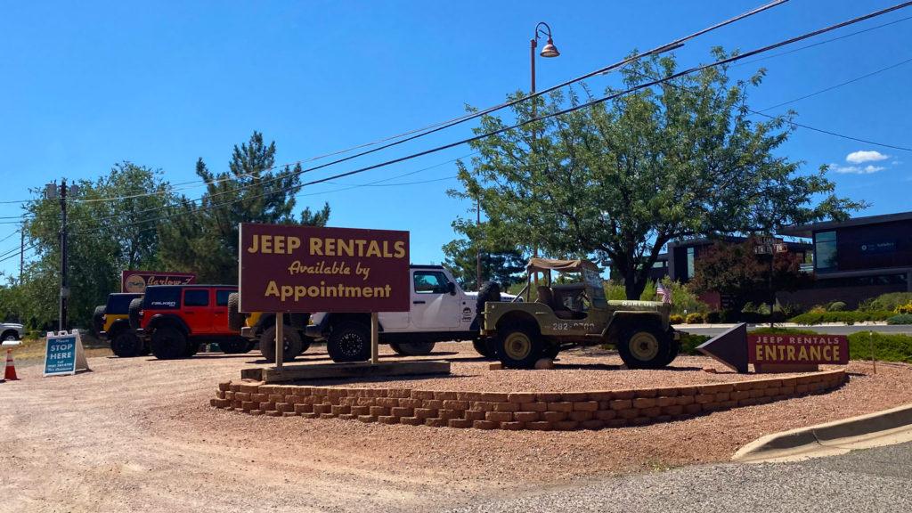 Barlow Jeep rentals in Northern Arizona