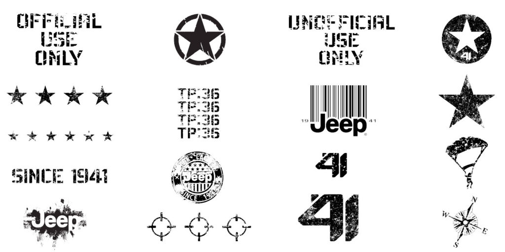 2020 custom Jeep Wrangler decals from FCA