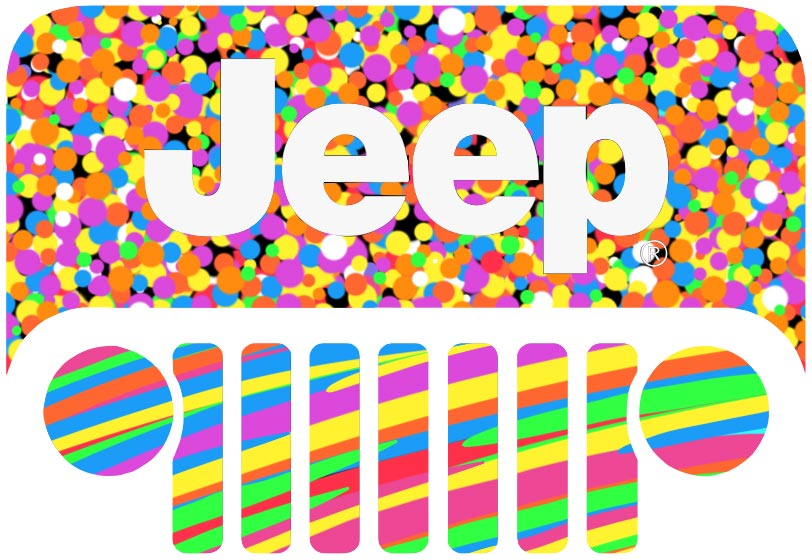 Colorful Jeep logo