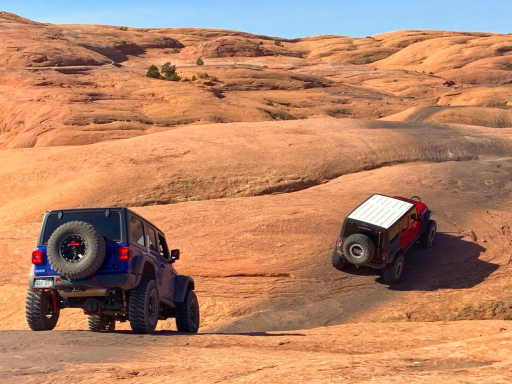 Two Jeep rentals in Moab, Utah