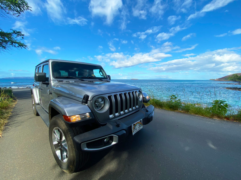 Jeep on Maui Island in Hawaii