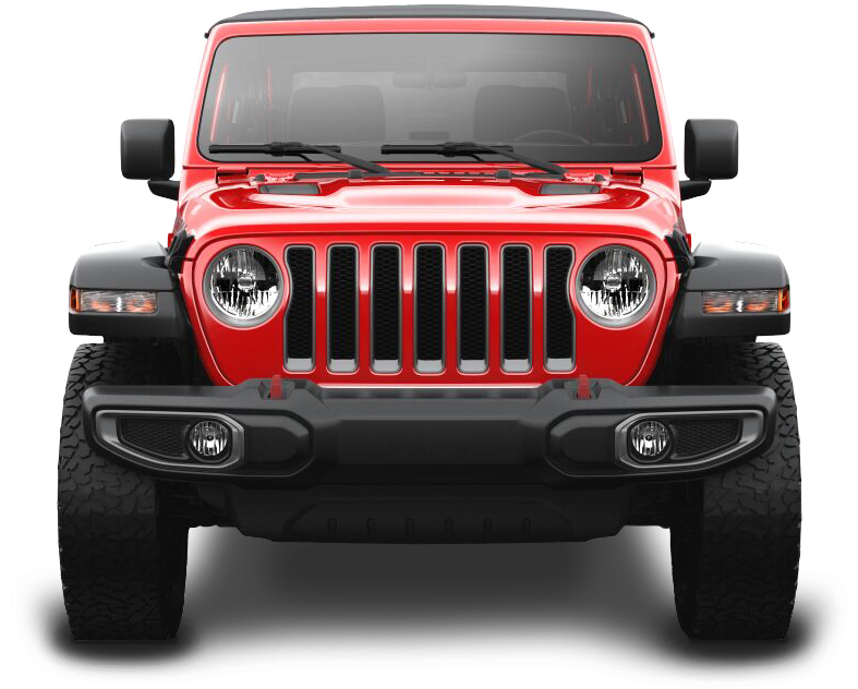 Red Jeep Wrangler rental