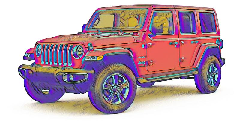 Pastel Jeep Wrangler